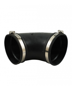 Flexibele rubber bocht  (90°) 110mm
