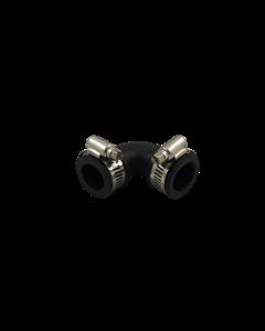Flexibele rubber bocht (90°) 25mm