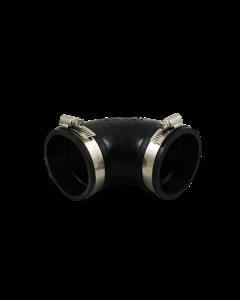 Flexibele rubber bocht (90°) 63mm