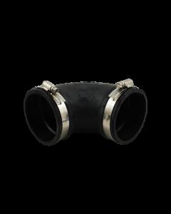 Flexibele rubber bocht (90°) 75mm