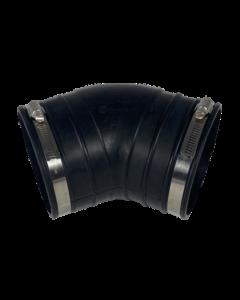 Flexibele rubber bocht (45°) 125mm