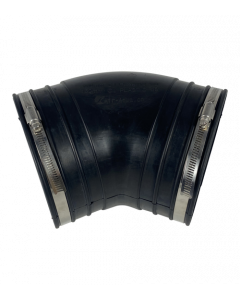 Flexibele rubber bocht (45°) 160mm