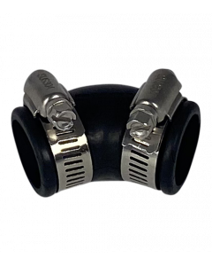 Flexibele rubber bocht (45°) 25mm