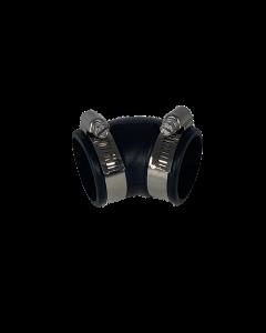 Flexibele rubber bocht (45°) 32mm