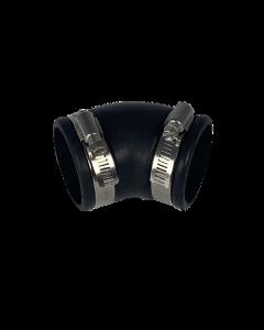 Flexibele rubber bocht (45°) 40mm