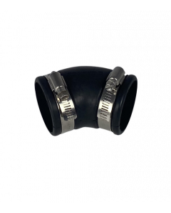 Flexibele rubber bocht (45°) 50mm