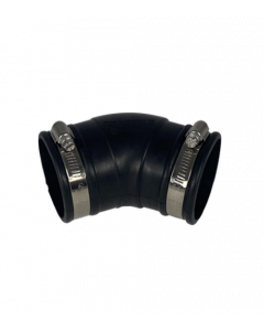 Flexibele rubber bocht (45°) 63mm