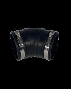 Flexibele rubber bocht (45°) 90mm