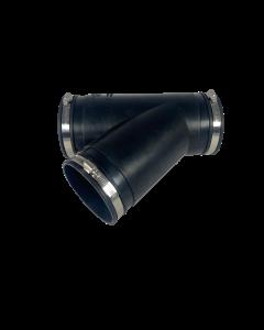 Flexibel rubber Y-stuk 110mm