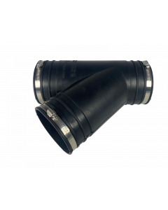 Flexibel rubber Y-stuk 125mm