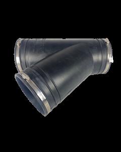 Flexibel rubber Y-stuk 160mm