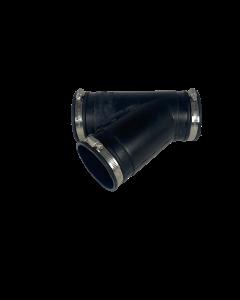 Flexibel rubber Y-stuk 90mm