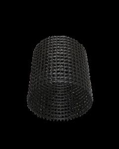 Rasterbuis Ø 200mm x Lengte 1000mm (zwart).
