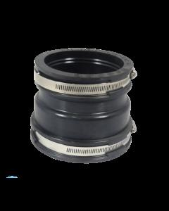 Flexibele EPDM verloopsok/mof 125x110mm