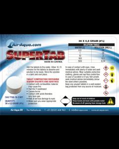 SuperTab - Chloordioxide - 36 Tabs x 0,5 gram - 4%