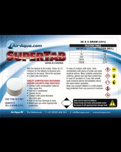 SuperTab - Chloordioxide - 36 Tabs x 4 gram - 10%
